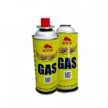 Portable butane can 220gr valve nozle type valves