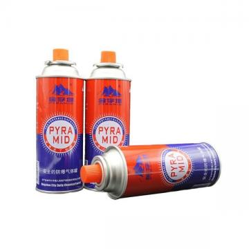 Factory custom logo diameter 100-300ml tin aerosol gas straight can metal butane gas can