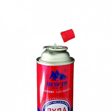 Fuel Energy Empty Tinplate Safety Powerful Butane Gas Canister 220G  with CRV