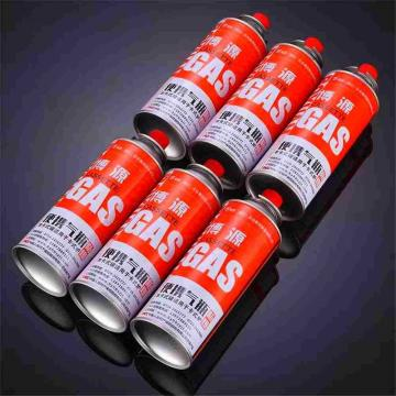 Empty 220g refillable 190g portable refill tin aerosol camping butane gas cartridge can