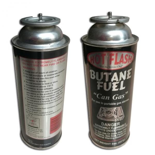 empty camping gas can butane gas canister gas container